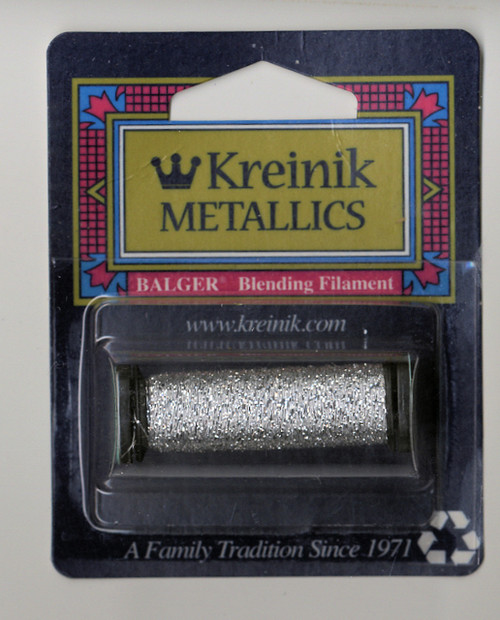 Kreinik Metallics Blending Filament - Silver #001