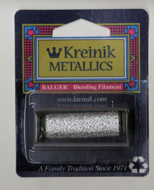 Kreinik Metallics Blending Filament - Silver 001