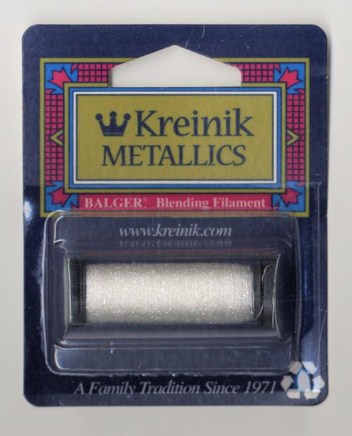 Kreinik Metallics Blending Filament - White #100