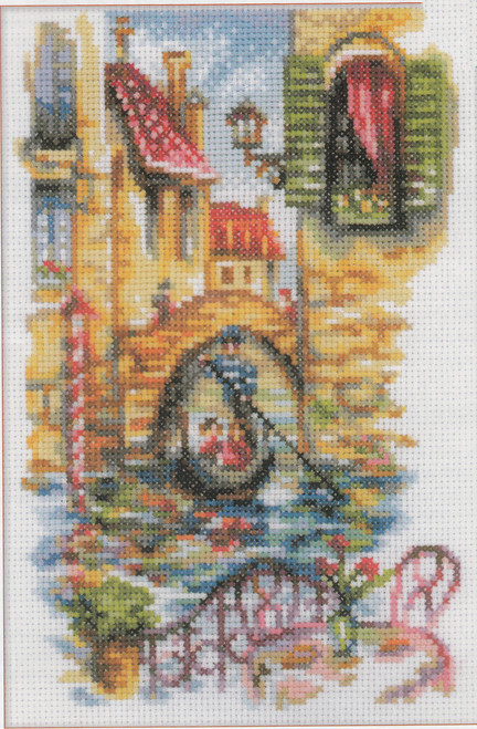 "RTO Counted Cross Stitch Kit 9.8/""X7.6/""-On The Edge Of The Earth 14 Count"