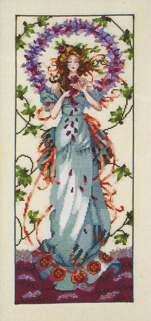 "COMPLETE XSTITCH MATERIALS /""CATHEDRAL WOODS GODDESS  MD164/"" by Mirabilia SALE"