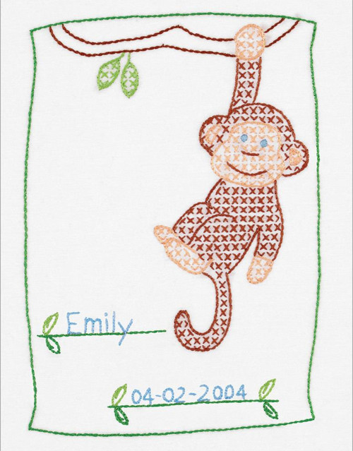 Jack Dempsey Needle Art - Monkey Sampler