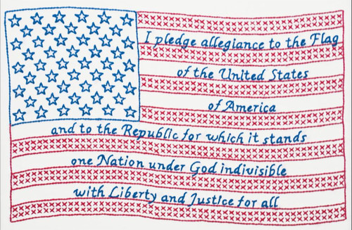 Jack Dempsey Needle Art - Pledge of Allegiance Sampler