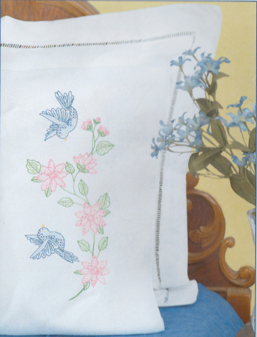 Jack Dempsey Needle Art - Birds Pillowcase Set (2)