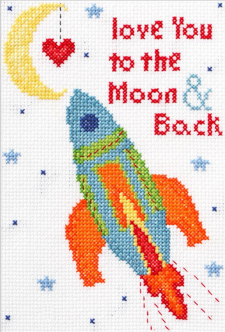 Plaid / Bucilla - My 1st Stitch - Love You to the Moon & Back