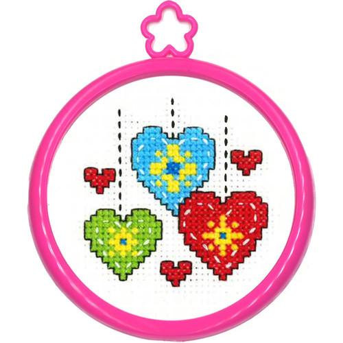Plaid / Bucilla - My 1st Stitch - Hearts