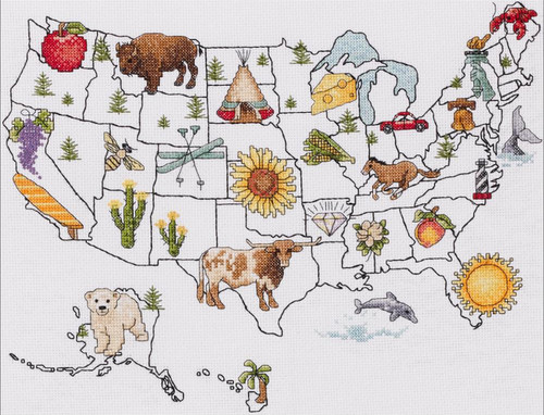 Plaid / Bucilla - State by State