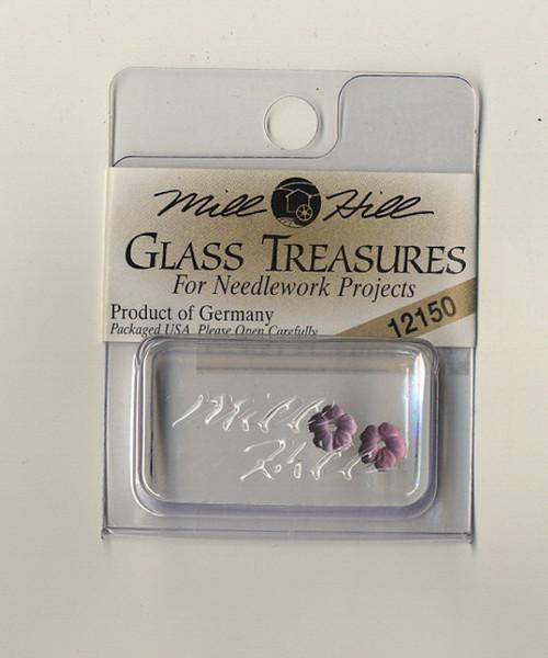 Mill Hill Glass Treasures - Very Petite Flower Matte Medium Amethyst