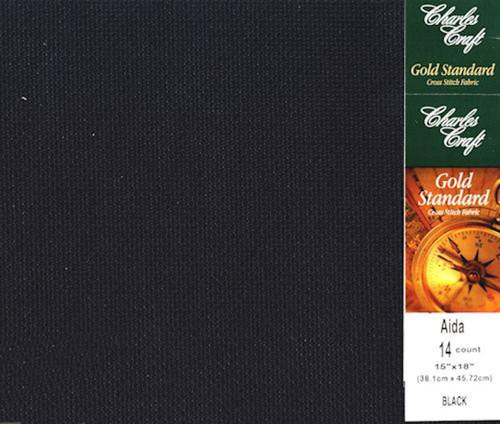 Charles Craft - 14 Ct Black Aida Fabric 15 x 18 in