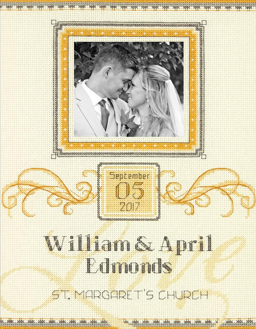 Dimensions - Elegant Flourish Wedding Record
