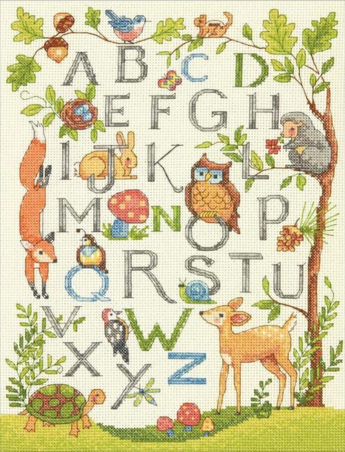 Dimensions - Woodland Alphabet