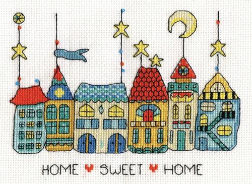 Cross Stitch Mini Kit ~ Janlynn Home Sweet Home w//Frame #998-0025 SALE!