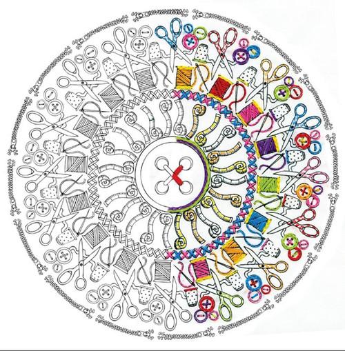 "Design Works - Zenbroidery Sewing Mandala 12"" x 12"""