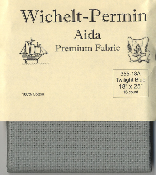 Wichelt - 16 Ct Twilight Blue Aida 18 x 25 in
