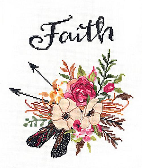 Janlynn - Watercolor Flowers Faith