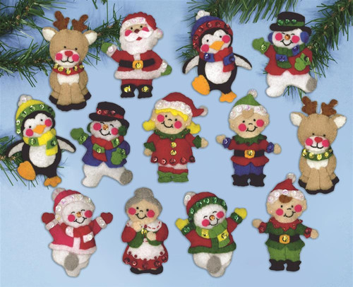 Design Works - Christmas Friends Ornaments