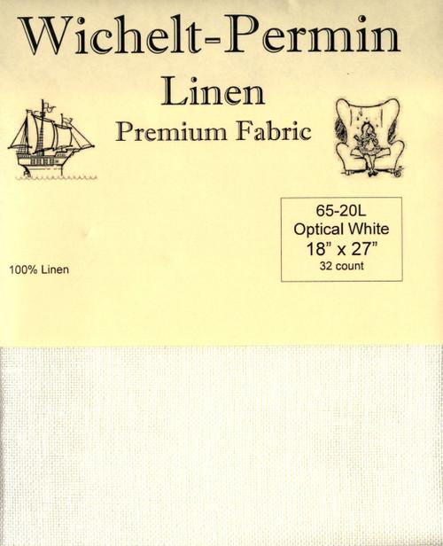 Wichelt - 32 Ct Optical White Linen 18 x 27 in