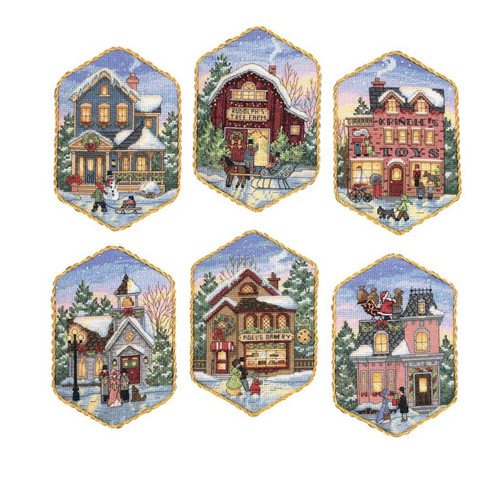 Gold Collection - Christmas Village Ornaments