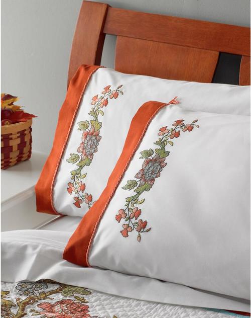 Plaid / Bucilla - Waverly Charleston Chirp Pillowcases (2)