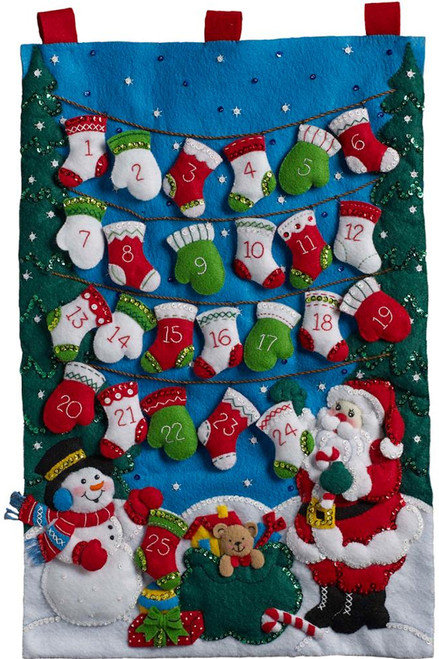 Plaid / Bucilla - Mittens and Stockings Advent Calendar