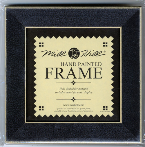 """Mill Hill - 6"""" x 6"""" Matte Black Hand Painted Frame"""