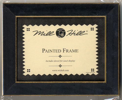 """Mill Hill - 6"""" x 8"""" Matte Black Hand Painted Frame"""