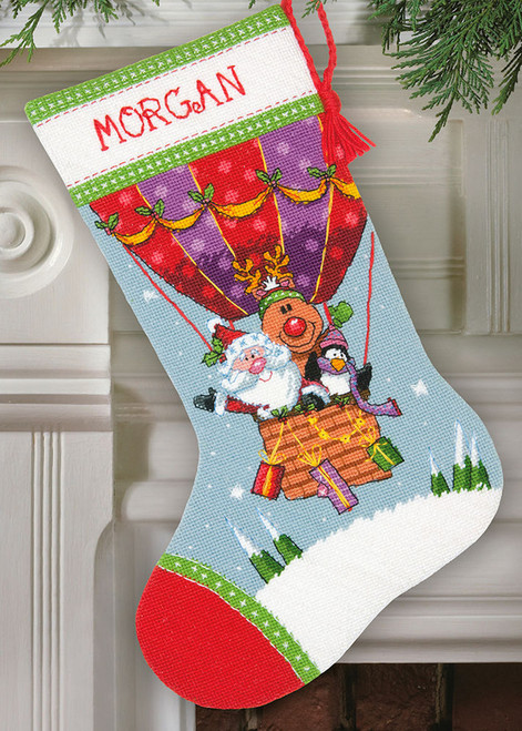 Dimensions - Santa's Balloon Ride Stocking