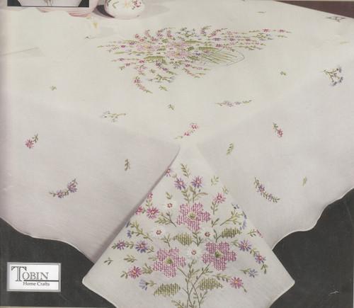 Design Works - Floral Grandeur 50in x 50in Tablecloth