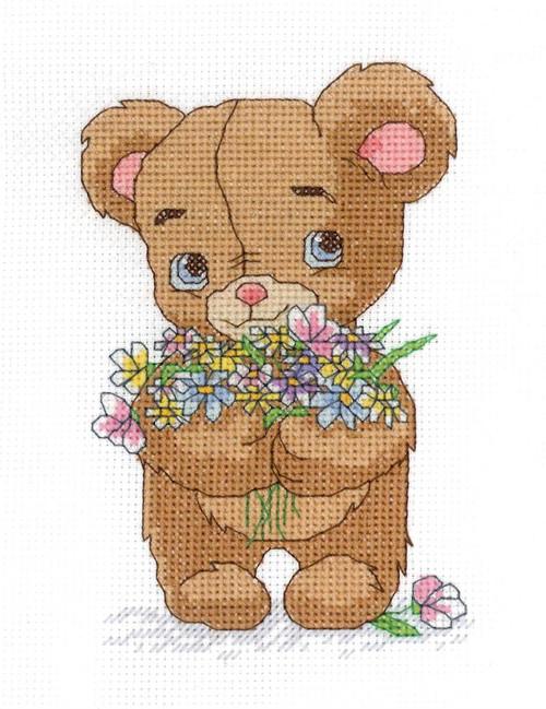 Janlynn - Bear with Bouquet