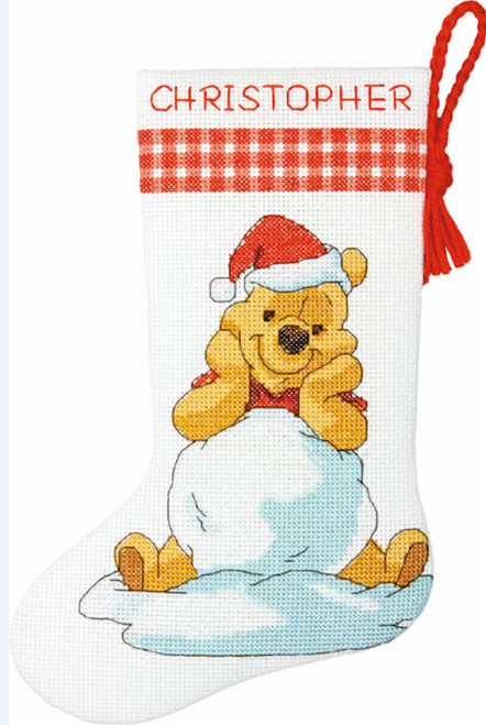 Disney Cross Stitch Christmas Stocking Patterns.Disney Winnie The Pooh Petite Size Stocking