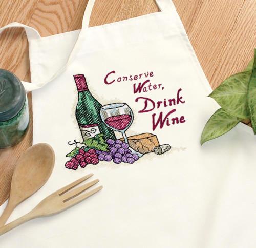 Dimensions -  Drink Wine Apron