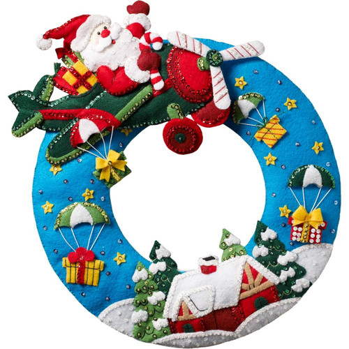 Plaid / Bucilla - Airplane Santa Wall Hanging