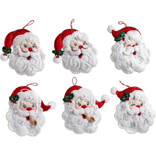 Plaid / Bucilla - Santa Ornaments