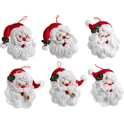 Plaid / Bucilla - Santa Ornaments