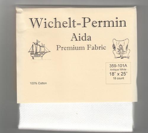 Wichelt - 18 Ct  Antique White Aida 18 x 25 in