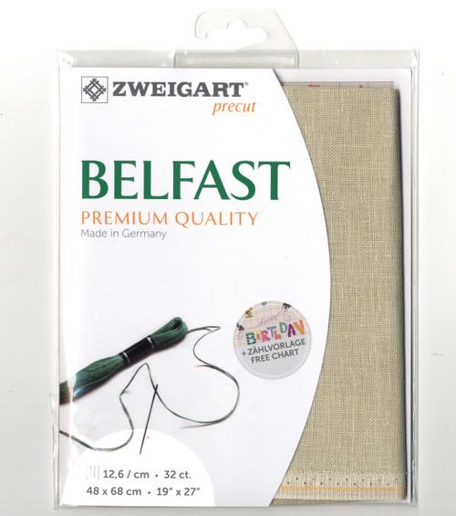 Zweigart - 32 Ct  Platinum Belfast Premium Quality Linen 19 x 27 in