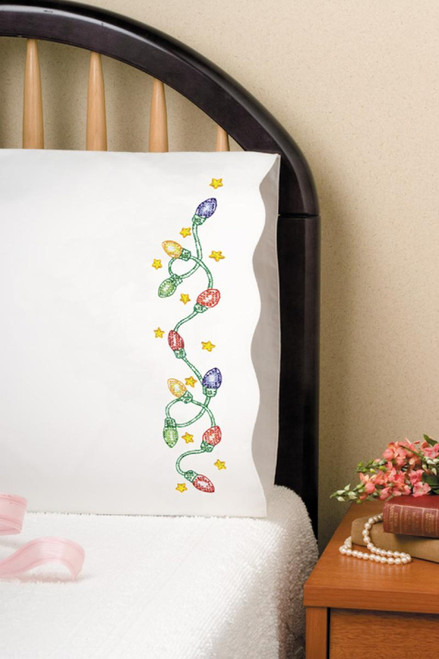 Design Works - Christmas Lights Pillowcases (2)