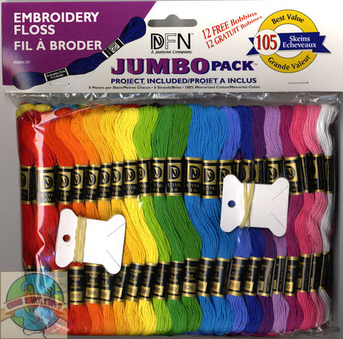 Janlynn - Jumbo Pack of 105 Solid Embroidery Floss