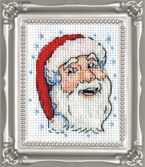 Design Works -  Santa Face Picture Kit w/Frame