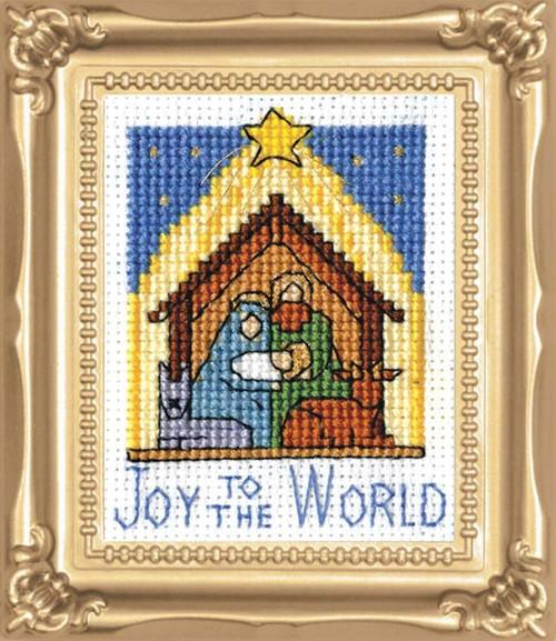 Design Works -  Nativity Picture Kit w/Frame