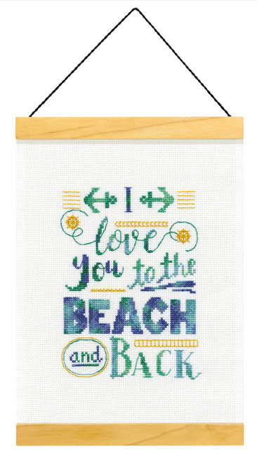 Dimensions - To the Beach and Back Wood Banner