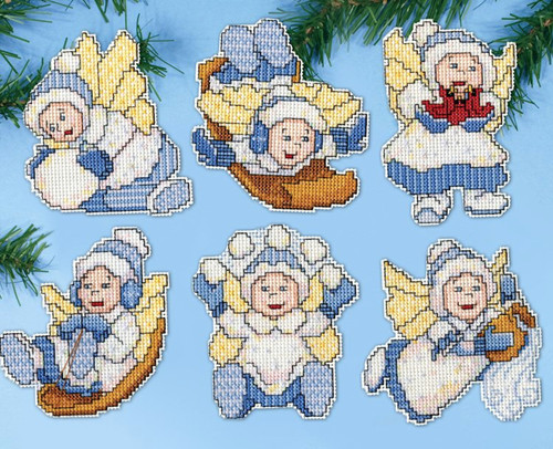 Design Works - Winter Angel Ornament Set (6)