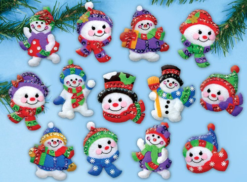 Design Works - Jolly Snowmen Ornament Set (13)