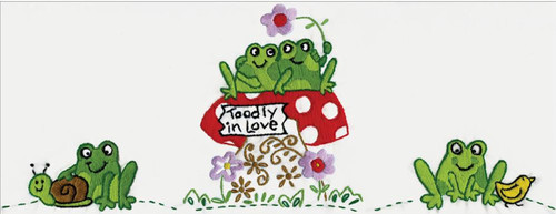 Design Works - Toadly in Love Pillowcases (2)