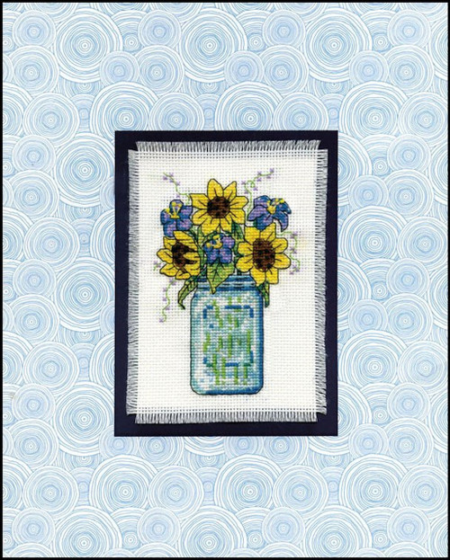 Design Works - Floral Jar Stitch & Mat