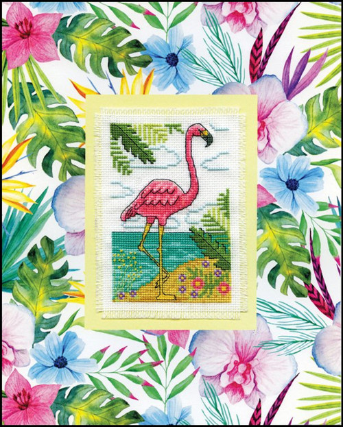 Design Works - Flamingo Stitch & Mat