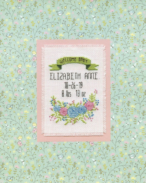Design Works - Welcome Baby Birth Record Stitch & Mat
