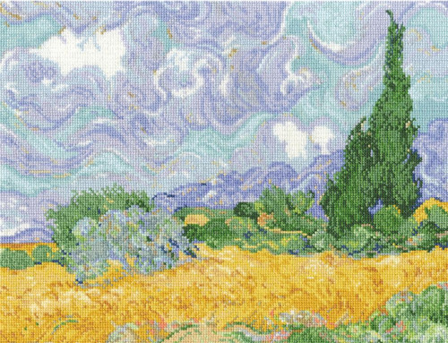 DMC - Van Gogh's A Wheatfield with Cypresses
