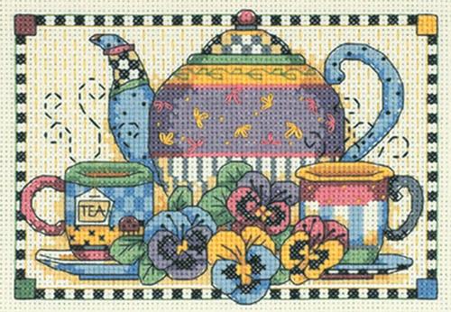 Dimensions / Debbie Mumm Minis - Teatime Pansies