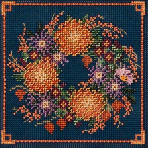 2018 Mill Hill Buttons & Beads Autumn Series  - Mum Wreath